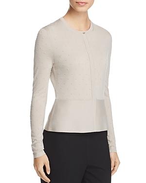Boss Faithe Wool Textured Dot Cardigan