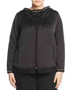 Marina Rinaldi Filo Satin Hooded Jacket