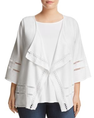 Love Scarlett Plus Draped Open Front Cardigan