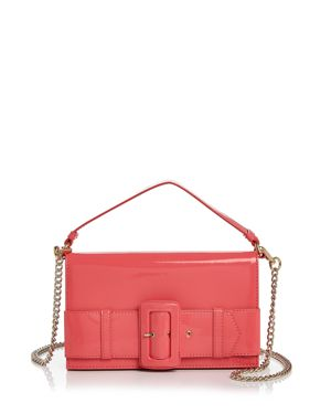 Boutique Moschino Buckle Patent Leather Shoulder Bag