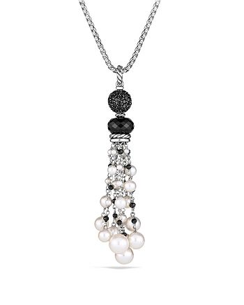 David Yurman - Oceanica Tassel Pendant with Black Onyx and Pearls