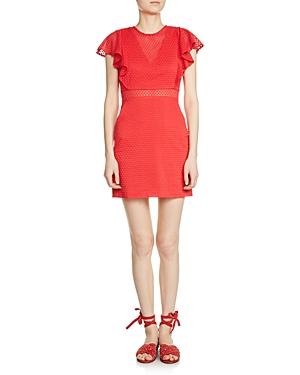 Maje Roucoul Lace Mini Dress