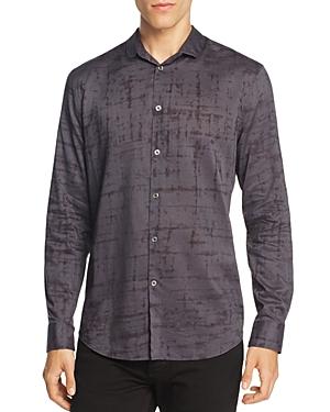 John Varvatos Collection Windowpane Slim Fit Button-Down Shirt