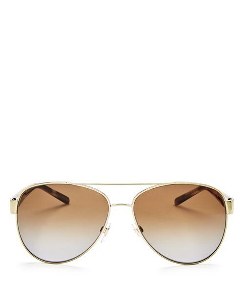 Burberry - Men's Polarized Brow Bar Aviator Sunglasses, 60mm