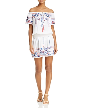Parker Tammy Embroidered Peasant Dress
