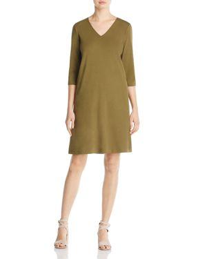 Eileen Fisher Organic Cotton V-Neck Dress