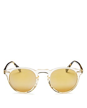 Oliver Peoples - Unisex Gregory Peck Round Sunglasses, 47mm