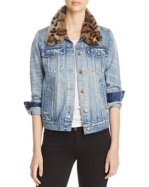 Pam & Gela Fur Collar Denim Jacket