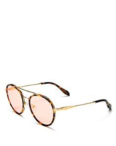 Sonix - Women's Charli Mirrored Round Sunglasses, 51mm