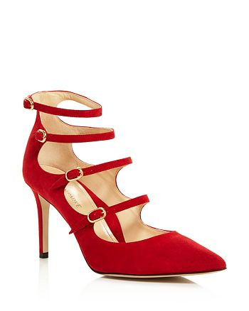 MARION PARKE - Women's Mitchell Strappy Mary Jane High-Heel Pumps - 100% Exclusive