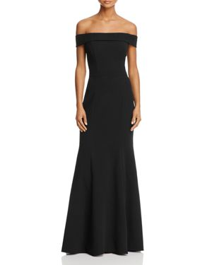 Avery G Off-the-Shoulder Gown