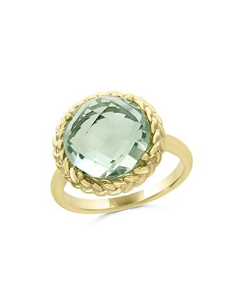 Bloomingdale's - Green Amethyst Statement Ring in 14K Yellow Gold - 100% Exclusive