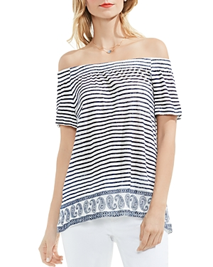 Vince Camuto Stripe Off The Shoulder Top