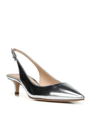 Sam Edelman Ludlow Metallic Pointed Toe Slingback Pumps