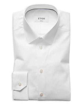 Eton - Twill Slim Fit Basic Dress Shirt
