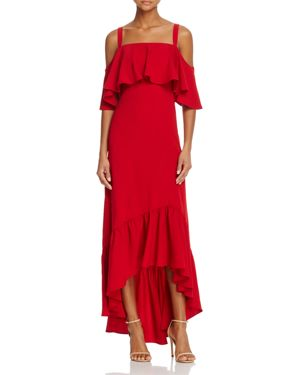 Jill Jill Stuart Ruffled Cold-Shoulder Dress - 100% Exclusive