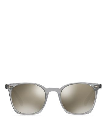 Oliver Peoples - Unisex L.A. Coen Mirrored Square Sunglasses, 49mm