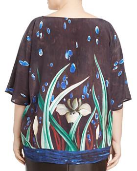 Marina Rinaldi - Berenice Printed Silk Crepe de Chine Blouse