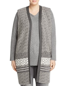 Marina Rinaldi - Woven-Front Jersey Vest