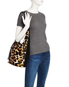 Elizabeth and James - Finley Courier Leopard Print Calf Hair Hobo - 100% Exclusive