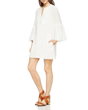 Bcbgmaxazria Adina Bell-Sleeve Front-Bib Dress 2564568