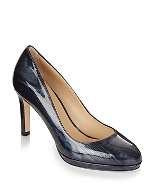 Hobbs London Julietta Printed Patent Leather Court Pumps
