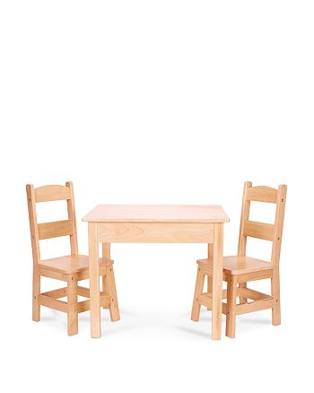 Melissa & Doug - Melissa & Doug Wooden Table and Chairs Set - Ages 3-8