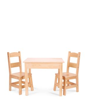 Melissa & Doug Wooden Table and Chairs Set - Ages 3-8 871170