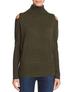 C by Bloomingdale's Cashmere Turtleneck Cold-Shoulder Sweater - 100% Exclusive