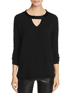 C by Bloomingdales Cashmere Cutout Sequin V-Neck - 100% Exclusive
