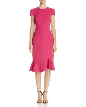 Betsey Johnson Scuba Crepe Midi Dress