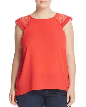Junarose Lace-Shoulder Blouse