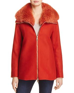 Herno Fox Fur Trim Coat