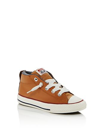 Converse - Boys' Chuck Taylor All Star Leather Mid-Top Sneakers - Walker, Toddler, Little Kid, Big Kid
