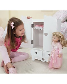 Melissa & Doug - Wooden Doll Armoire - Ages 3+