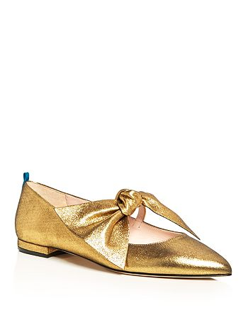 SJP by Sarah Jessica Parker - Women's Farah Bow Pointed Toe Ballet Flats - 100% Exclusive
