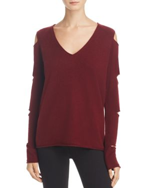 Aqua Cashmere V-Neck Slash-Arm Sweater - 100% Exclusive