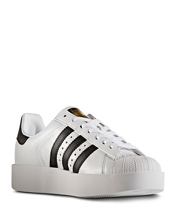 Porque Trampolín capital  Adidas Women's Superstar Bold Platform Lace Up Sneakers   Bloomingdale's