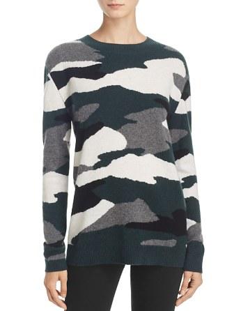 $AQUA Oversized Camo Cashmere Sweater - 100% Exclusive - Bloomingdale's