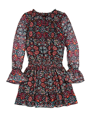 Ella Moss Girls Floral BellSleeve Dress  Big Kid