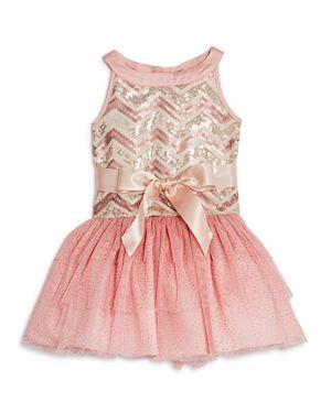 Us Angels Girls' Sequined Chevron Print Tutu Dress, Little Kid - 100% Exclusive
