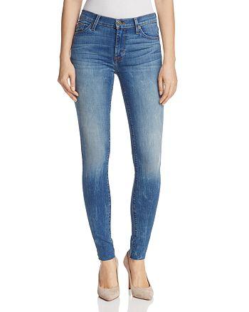 Hudson - Nico Mid Rise Raw Hem Skinny Jeans in Billow - 100% Exclusive