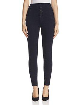 J Brand - Natasha Button Sky High Skinny Jeans in Bluebird