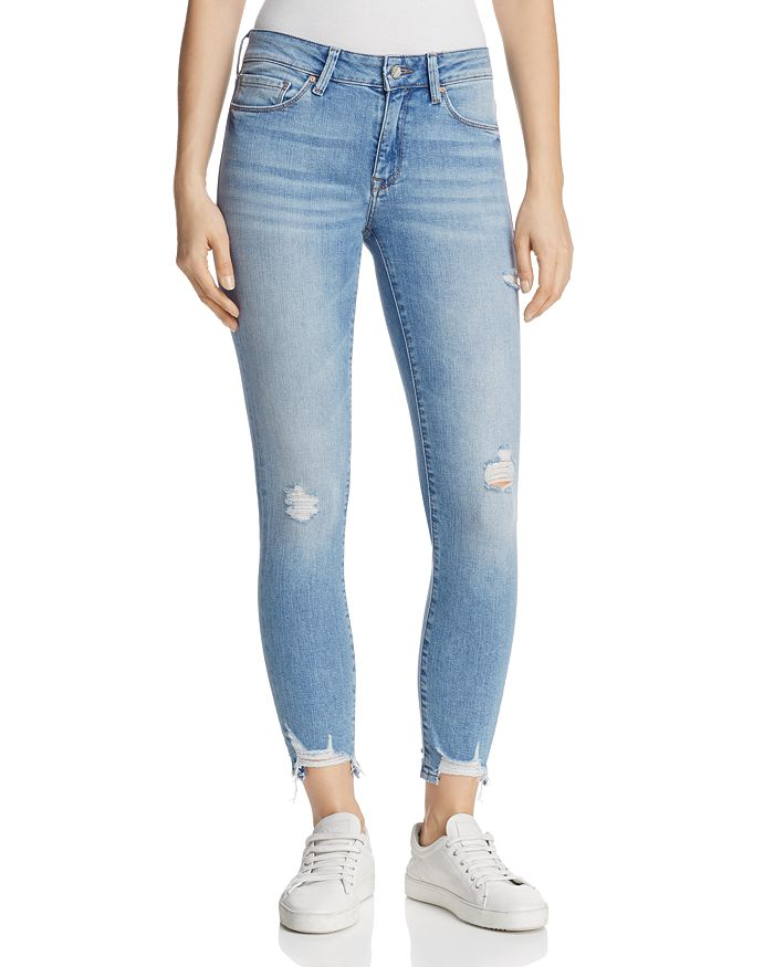 Mavi - Adriana Skinny Ankle Jeans in Destructed Vintage