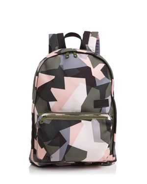 State Lorimer Slim Abstract Camo Print Backpack