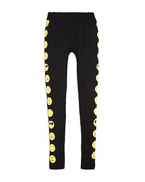 Capelli Girls' Emoji Tuxedo Stripe Leggings - Big Kid