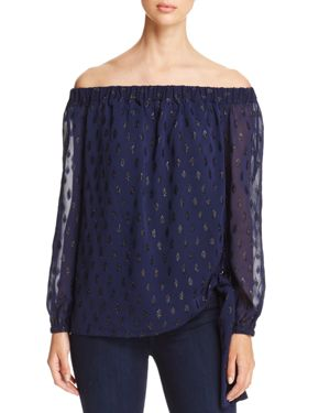 Michael Michael Kors Off-the-Shoulder Tie-Waist Top - 100% Exclusive