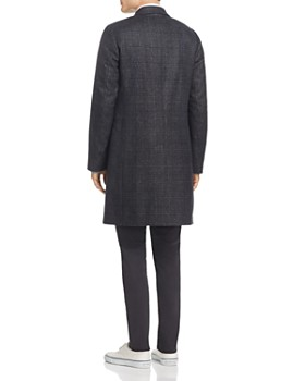 PS Paul Smith - Double-Breasted Plaid Overcoat