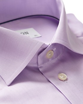 Eton - Herringbone Solid Regular Fit Dress Shirt