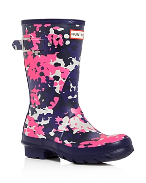 Hunter Women's Original Short Flecktarn Camo Matte Rain Boots